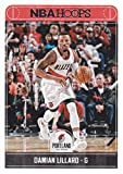 Damian Lillard 2017 2018 Panini Hoops #226 Mint Portland Trail Blazers Basketball Card in Protective Screwdown Display Case