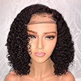 Jessica Hair 13x6 Lace Front Wigs Human Hair Short Bob Wigs Pre Plucked With Baby Hair Curly Brazilian Remy Hair Wigs…