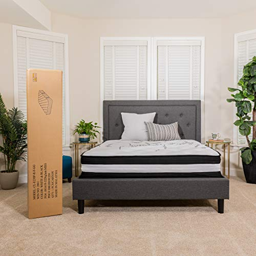 Flash Furniture Capri Comfortable Sleep 12 Inch Foam and Pocket Spring Mattress, Queen in a Box