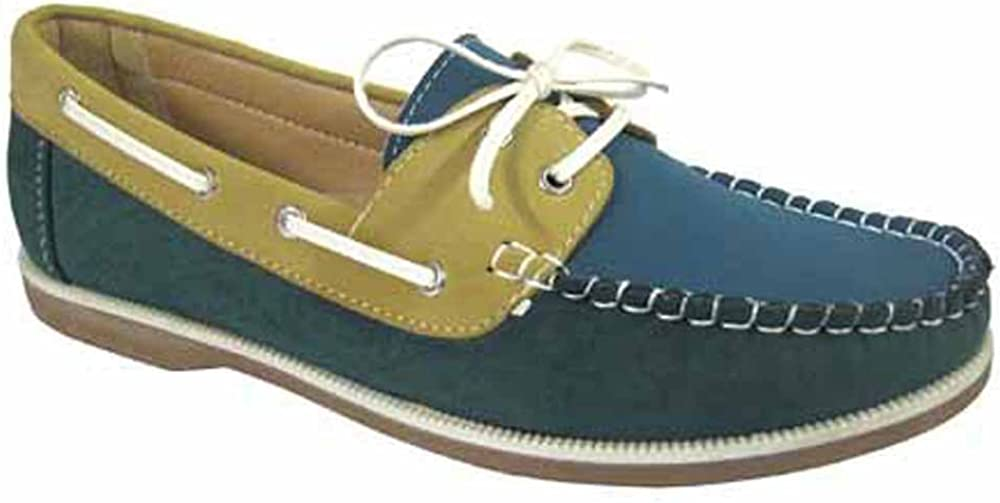 Coolers Ladies Faux Nubuck Leather Loafer Lace Up Boat Deck Shoes Sizes 4-8