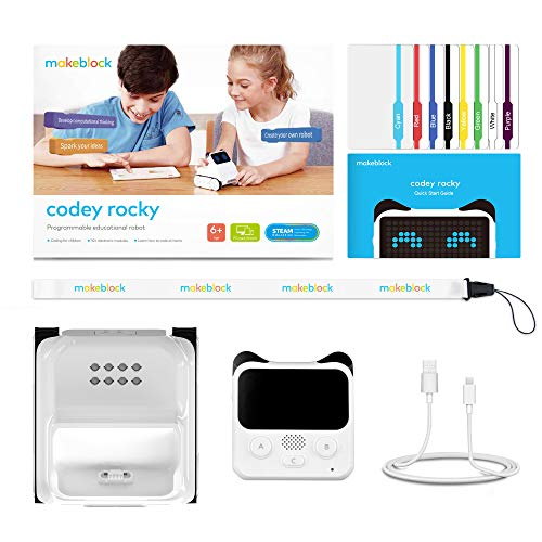 Makeblock Codey Rocky Programmable Robot, Fun Toys Gift to Learn AI,  Python, Remote Control, Available for Windows, Mac OS, Chromebook, iOS, and