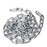 Red Hound Auto 72'' 6ft Long 5000lb Rated Safety Chain with Quick Links