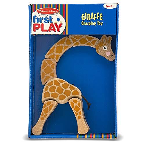 Melissa & Doug Giraffe Wooden Grasping Toy for Baby
