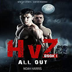 HvZ: All Out (M/M Gay Sports Shifter Romance Book 1)
