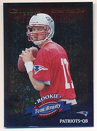 Tom Brady 2000 Donruss  230 Rc Rookie Card Career Stat Line Patriots Sp  108 214