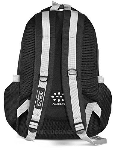 Ultra Strong Herren Rucksack Rucksack Tasche–Camping Wandern Sport Schule Black & Purple (Aoking)