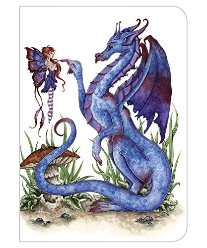 - Tree-Free Greetings Amy Brown Collection Journal, 160 Ruled Pages, 100% Recycled, 5.5 x 7.5 x 0.75 Inches, Attitude Blue Dragon and Fairy (JR86581)
