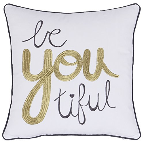 ADecor Pillow Cover Bautiful Girl Pillowcase Embroidered Pillow cover Decorative Pillow Standard Cushion Cover Gift Love Couple Teen Inspiration quote pillow P327 (18X18, ()