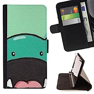 For Apple Iphone 6 Dinosaur Cute Animal Drawing Cartoon Beautiful Print Wallet Leather Case Cover With Credit Card Slots And Stand Function