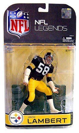 McFarlane NFL Legends Series 4 Jack Lambert (#58 Pittsburgh Steelers) Grey Face Mask Chase Variant Collector Level