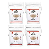 Augason Farms Long Grain Brown Rice Emergency Food Storage 26 Pound Pail (4 Pail)