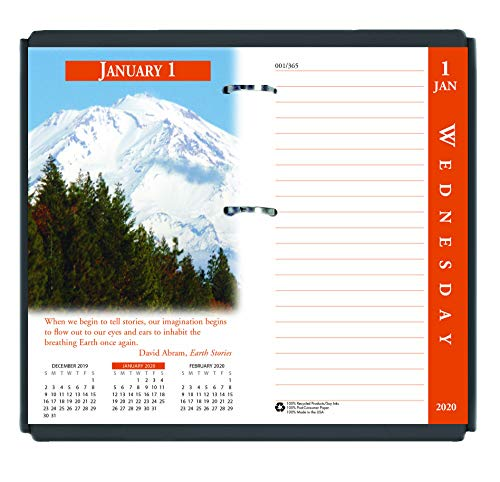 - House of Doolittle 2020 Desk Calendar Refill, Daily, Earthscapes, Fits #17 Base, 3.5 x 6 Inches, January - December (HOD417-20)