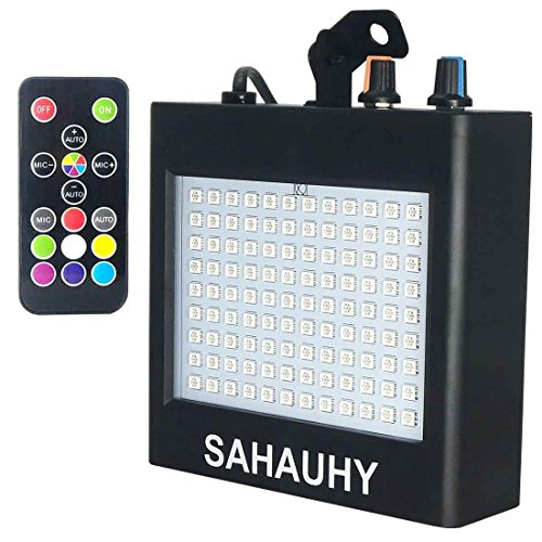 Strobe Lights,SAHAUHY 25W 108 LEDs Super Bright Mixed Flash Stage Lighting with Sound Activated Mode & Adjustable Flash Speed Control (Black 1)