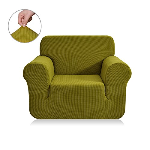 living room chair covers. Chunyi Jacquard Sofa Covers 1-Piece Polyester Spandex Fabric Slipcovers ( Chair, Yellow Green) Living Room Chair Covers I