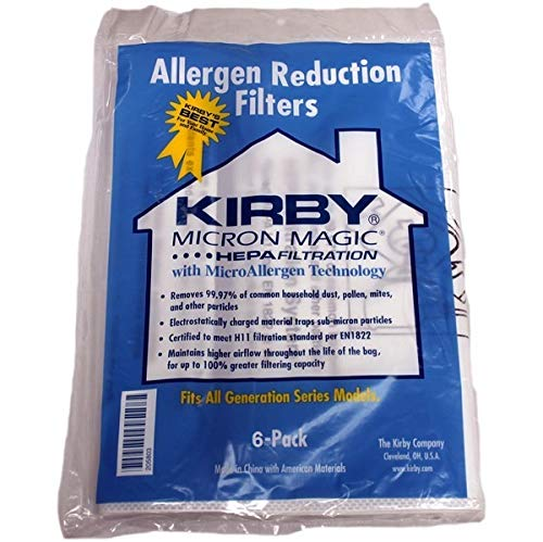 Kirby, Micron Magic Hepa Filtration with MicroAllergen Technology Vacuum Bags Pack of ()