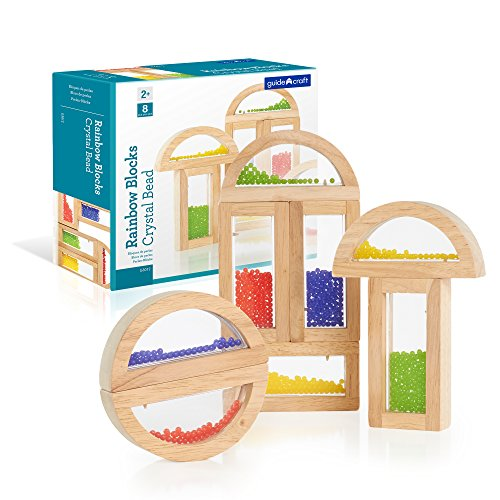 Rainbow Blocks Crystal Bead - Usa Guidecraft Rainbow Blocks