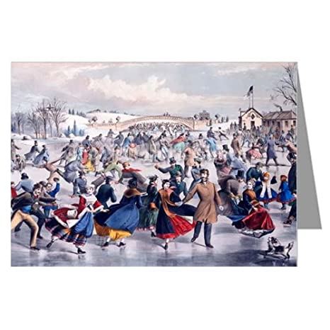 Christmas Ice Skating.Amazon Com Currier And Ives New York City Holiday