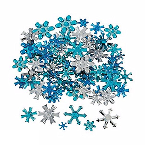 150 Plastic Snowflake Jewel Table Top Tossers Assortment Table Decor, Crafting