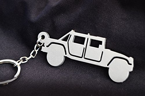 Custom Stainless Steel Keychain for Hummer H1 Enthusiasts for sale  Delivered anywhere in USA