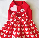 Dog Harness Dress Valentine Hearts: Chihuahua Yorkie ShihTzu, CKC Spaniel