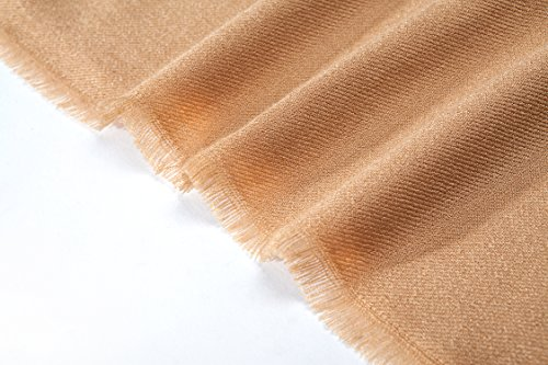 RIONA Women's Soild Basolan Wool Scarf - Super Soft Fashion Lightweight Neckwear for Spring & Fall(Camel) by RIONA (Image #7)