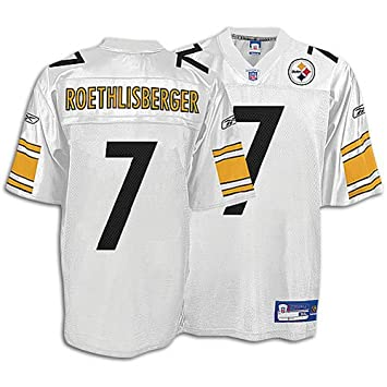 0f4a32e1d61 ... NFL Pittsburgh Steelers 7 Reebok Pittsburgh Steelers Ben Roethlisberger  Replica White Jersey Extra Large ...