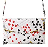 Small Thin Clutch Purse Made From Real Play Cards Prime fun gift for player of bridge poker solitaire addict wallet evening wedding las vegas style event convention trip friend playing queen of hearts