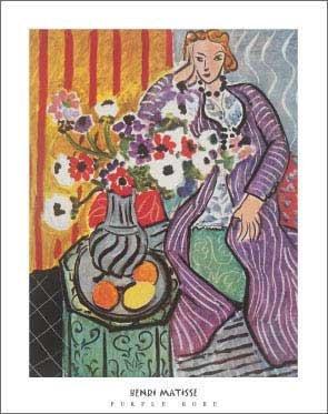Purple Matisse Henri Robe - Henri Matisse - Purple Robe NO LONGER IN PRINT - LAST ONE!!