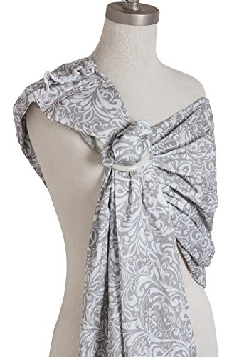 Mo+m Ring Sling Baby Carrier & Breastfeeding Nursing Cover - Adjustable Wrap [for Infant to Toddler Age]