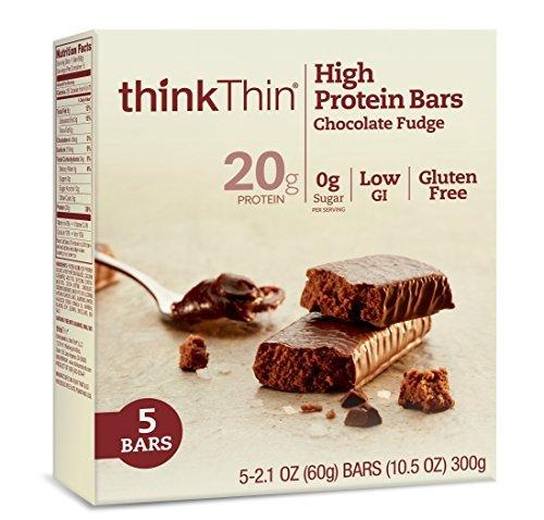 [thinkThin High Protein Bars, Chocolate Fudge, 5 Count (Pack of 6) by thinkThin] (Think Thin High Protein Bar Chocolate Fudge)