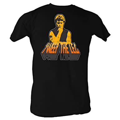 eaa9ce510 Karate Kid Cobra Kai Sweep the Leg on Back Black T-shirt: Amazon.co.uk:  Clothing