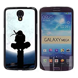 Design for Girls Plastic Cover Case FOR Samsung Galaxy Mega 6.3 Ninja Black Mask Fighter Warrior Martial Arts OBBA