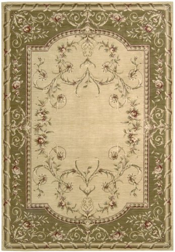 Nourison Ashton House (AS33) Beige Rectangle Area Rug, 2-Feet by 2-Feet 9-Inches (2' x 2'9
