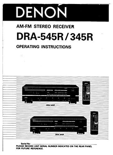 denon dra 345r receiver owners manual plastic comb jan 01 1900 rh amazon com Example User Guide User Guide Template