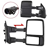 Power Heated Led Side Lamps Turn Signal Lights For 1999-2007 Ford F250 F350 F450 F550 Super Duty Truck Manual Telescopic Folding Towing Mirrors with Adapter