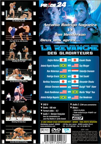 Pride 24 - La revanche des gladiateurs Francia DVD: Amazon.es ...