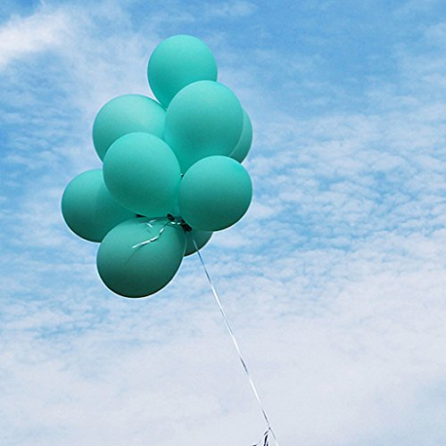 Eshanmu Tiffany Blue Latex Balloon wedding Decoration (100pcs)