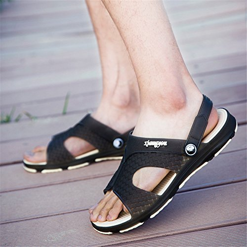 da flatless cinturino Sandali da alla Dimensione Nero uomo Grigio 43 2018 caviglia Scarpe uomo Color EU con HUwqxHf5R