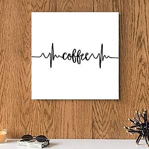 Coffee MDF Wall Art 30x30 Centimeter