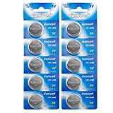 Eunicell CR2450 5029LC Lithium Blister Pack 3V 3 Volt Coin Cell Batteries (10 pcs)
