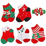 Unisex Baby Christmas Socks YEAPOOK Cotton Cute Baby Socks Toddler Xmas Socks Infant Christmas Socks for Newborn Boys Girls-5 Pairs (S(1-3t),Assorted 1)