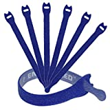 Reusable Cable Ties 1/2'' x 8'' - 30 Pack (Blue)