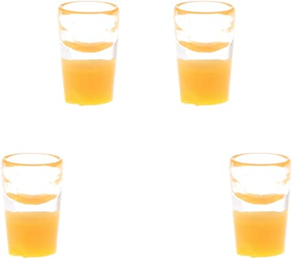 Orange Juice Set Dollhouse Miniature Food Drinks 1:12 Scale