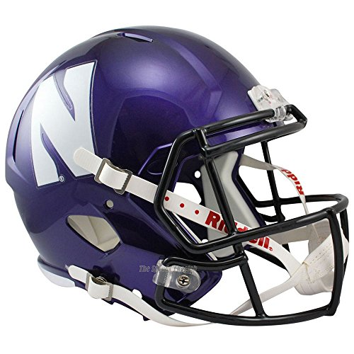 Northwestern Wildcats Officially Licensed NCAA Speed Full Size Replica Football Helmet by Riddell