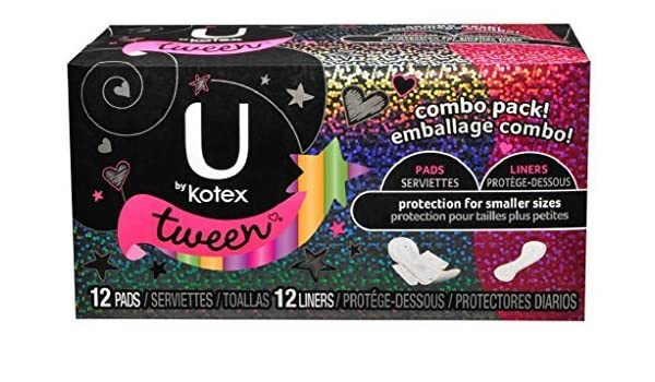 U by Kotex Tween Ultra Thin Pads & Liners Combo Pack by U by Kotex: Amazon.es: Salud y cuidado personal