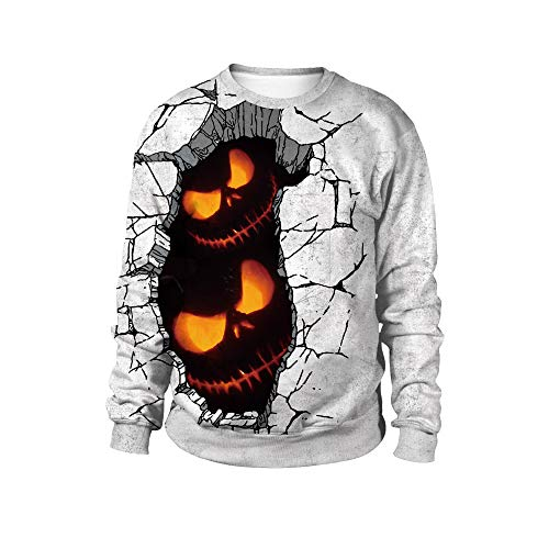 JYKING Halloween Costume New Round Neck Sweater Halloween Party Dress Up Street Sweater WB102-005 L