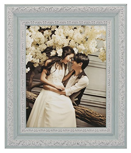 Lilian PC blue photo frames(8 x 10in), Choose PS polymer material environmental protection(4383-A-4S-f) (Pretty Pictures)