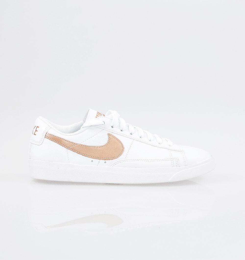 NIKE Womens Blazer Low Le Trainers AA3961 Sneakers Shoes (UK 6 US 8.5 EU 40, White Metallic Bronze 102)