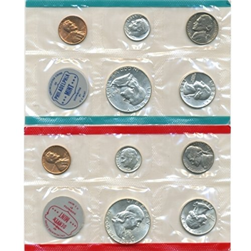(1963 P, D U.S. Mint - 10 Coin Uncirculated Set with Original Governmetn Packaging Uncirculated)