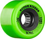 Bones Wheels Rough Riders 80a Skateboard Wheels, Green, 56mm